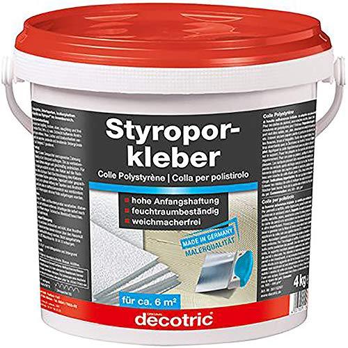 Decotric 1102001 Styroporkleber Renoviervlieskleber, weiß, 4kg