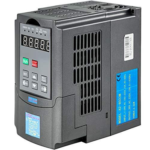 VEVOR Variador de Frecuencia 2.2KW 10A 220-250V Convertidor de Frecuencia Variable Ajustable Convertidor de Frecuencia VFD 3HP