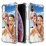 SHUMEI Coque personnalisée pour Apple iPhone X et iPhone XS, 5,8 Pouce Personnalisé Photo Cadeau...