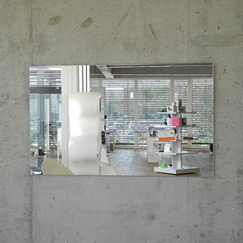 Glas Magnettafel MAX inkl. 5 Magnete, Magnetspiegel/Glasmagnettafel / Magnetboard/Magnetwand (Spiegel, 100 x 60 cm)
