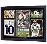SGH SERVICES Affiche encadrée Jonny Wilkinson Signée autographiée avec Photo de Rugby Union Photo dédicacée Poster Photo dédicacé pré-imprimé Cadre en MDF Imprimé mémorable