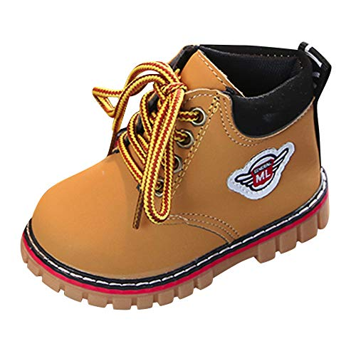Baby Shoes for 1-4 Years Old, Xinantime Children Boys Girls Boys Girls Snow Boots Fashion Warm Sneaker Soft Sole Shoes Yellow