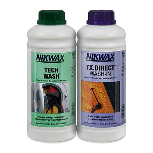 Nikwax Tech Wach EIN TX. Direct wash-in Liquid (2Stück), weiß/weiß, 1Liter