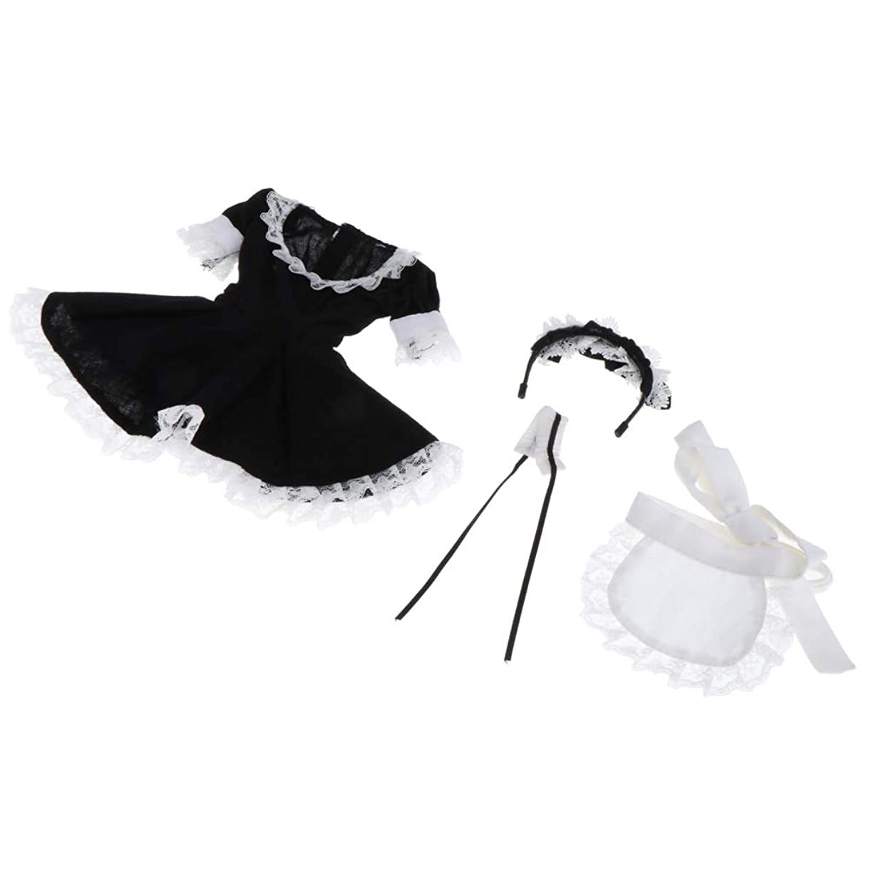 行霊経験的#N/A かわいい人形パーティードレス1/4 BJD女の子コスプレ衣装子供ごっこPlay Accs
