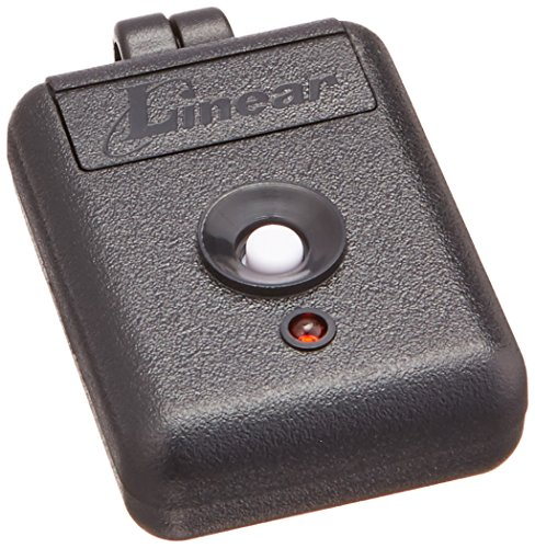Linear DNT00026 Delta-3 Miniature 1-Channel Key Ring Transmitter, Black/White