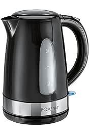 2200 W 1.7 litros Bomann WK 1566 CB Hervidor de agua el/éctrico Crema y negro Acero Inoxidable