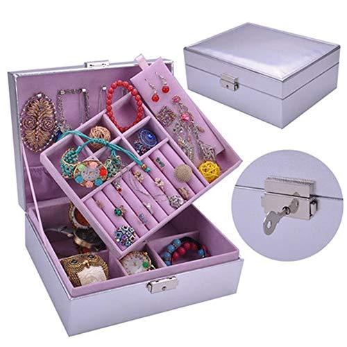 WRMOP Sieradendoos Multifunctionele Lock Woonkamer Slaapkamer Hoofdtooi Oorbellen Ketting Tafel Om Kinderen Meisjes Speelgoed R/20/02/23 Pack