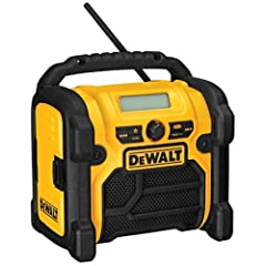 Runs on 12V MAX/18V/20V MAX battery packs; Heavy duty design with roll cage increases durability to withstand job site conditions AC/DC power allowing the flexibility to run off AC power cord of DeWalt power tool batteries Device storage box protects...