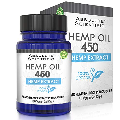 Hemp Oil Capsules for Pain, Anxiety & Stress Relief - 30 Caps 450mg, 100% Organic Hemp Oil - Natural Anti-Inflammatory, Joint Support Helps with Better Sleep & Mood - Grown and Made in USA