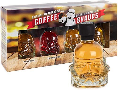 Modern Gourmet Foods - Original Stormtrooper Kaffee-Sirup Geschenkset - 4 Aromen in kleinen Sturmtruppler-Flaschen