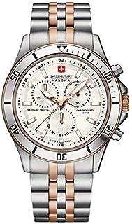 Swiss Military Hanowa - Reloj Cronógrafo para Hombre de Cuarzo con Correa en Acero Inoxidable SM06-5183-7-12-001