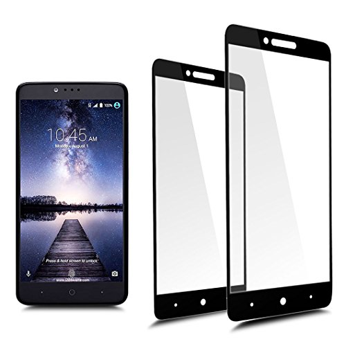 [2-Pack]Full Coverage Tempered Glass Screen Protector For ZTE Blade Z Max / Zmax Pro2 / Z982/ZTE Sequoia with Lifetime Replacement Warranty