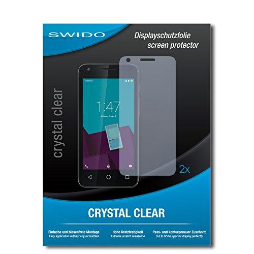 SWIDO Schutzfolie für Vodafone Smart Speed 6 [2 Stück] Kristall-Klar, Hoher Festigkeitgrad, Schutz vor Öl, Staub & Kratzer/Glasfolie, Bildschirmschutz, Bildschirmschutzfolie, Panzerglas-Folie