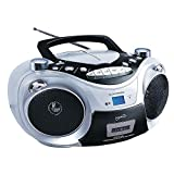 Supersonic CD MP3 Bluetooth AM FM Boombox Red (Each), Silver (SC-739BTSILVER)