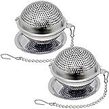 Lyxa SR 2 Pack Food Grade 304 Stainless Steel Mesh Tea Ball 2.1 Inch Tea Infuser Strainer Filter Diffuser for Loose Tea
