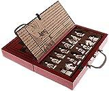 GAOTTINGSD Tablero de ajedrez Madera Antigua China Piezas de ajedrez Juego Juego de Mesa Familia, Juegos, Ajedrez Chino