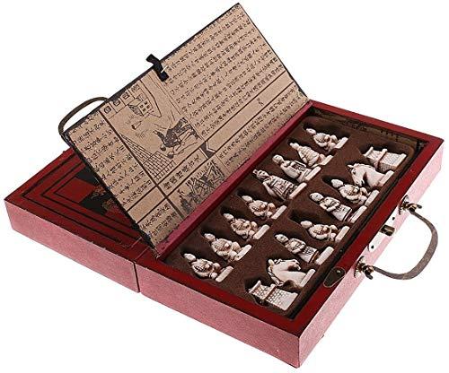 SOAR Schachspiel Hölzerne Antike Chinesische Schach-Stücke Set Brettspiel Familie Freizeitspiel Chinesisches Schach