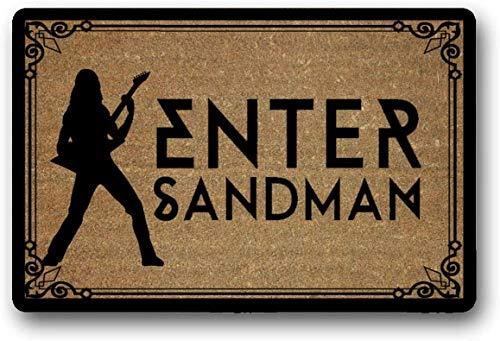 Solatman Metallica Enter Sandman - Felpudo (45 x 75 cm, látex, no tejido, 45 x 109 cm), diseño de sandman