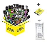 10 x Hanfmotive (Weed) Collector Mix Clipper (10 x Feuerzeug Plus 9 gratis Clipper Feuersteine +...