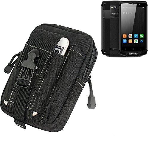 K-S-Trade Gürtel Tasche Für Blackview BV8000 Pro Gürteltasche Holster Schutzhülle Handy Hülle Smartphone Outdoor Handyhülle Schwarz Zusatzfächer