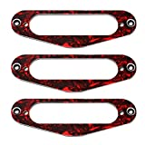 SUPVOX Anelli di montaggio pickup 3 pezzi per telaio humbucker pickup single coil set di c...