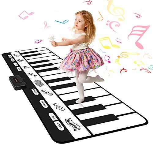 """Shayson Riesengroße Tanzmatten Klaviermatte, 24 Keys Kinder Musikmatte mit 8 Musikinstrumenten + Play -Record -Playback -Demo-70.47 """"x 28.34"""""""