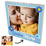 Cuadro personalizado con foto para regalar a tu mamá. Foto personalizada en madera...