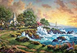 Ceaco 2000 Piece Thomas Kinkade - Seaside Haven Jigsaw Puzzle, Adults, 1000