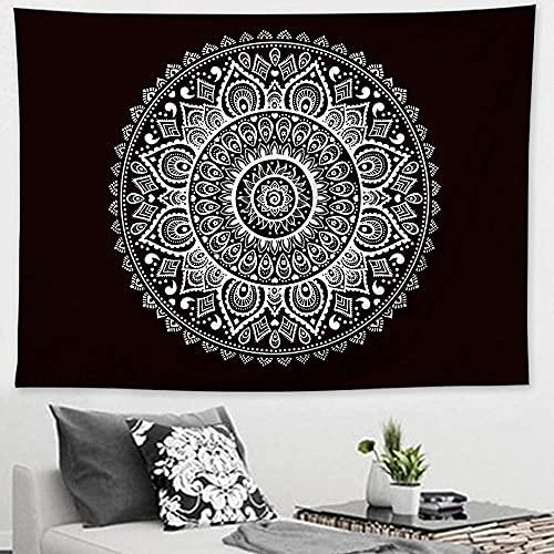 Tapiz para colgar en la pared, mandala indio, bohemio, toalla de playa de poliéster, manta fina, esterilla de yoga de 150 x 200 cm