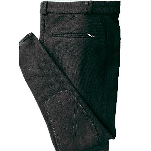 Pikeur Herren Reithose Aramis in bewährter Elastic-RIPP-Qualität, die Klassische Herrenreithose mit perfektem Sitz, 3 Reißverschlusstaschen, Klettabschluss, Kniebesatz (102, schwarz)