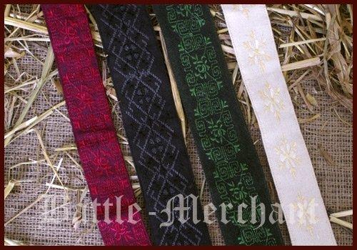 Mittelaltergürtel aus Baumwolle div. Farben, Gr. S/M Farbe grün - 2