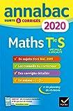 Annales Annabac 2020 Maths Tle S Spécifique & spécialité - Sujets et corrigés du bac Terminale S