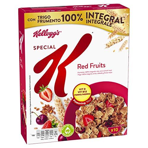 Kellogg's Special K Frutos Rojos - Cereales de arroz, trigo integral y cebada mezclados con cereza y fresa - Paquete 300 g