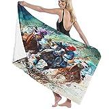 Toalla de Playa de Microfibra de Gran tamaño,Carrera de Caballos Pura Sangre Equinos Arti,Toalla de baño Absorbente Suave y Ligera para Nadar, Deportes, Piscina, Gimnasio, Camping (52 × 32 Pulgadas)