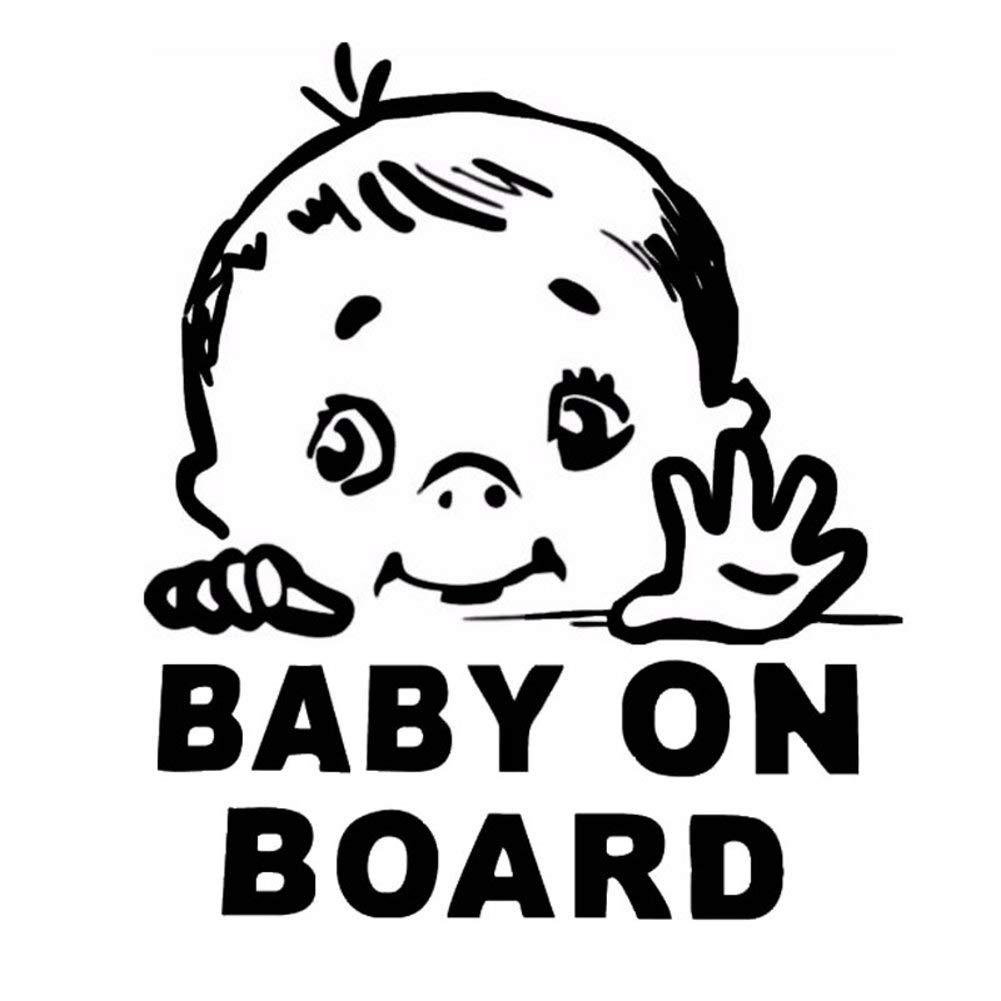 Erospa Auto Aufkleber Kfz Baby On Board Car Sticker Schwarz Baby