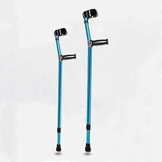 軽量の人間工学に基づいた前腕歩行松葉杖のペア、14ギア調整可能な杖84-116Cm、健康移動補助