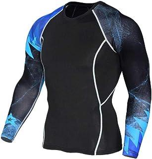 Dri Fit Black Compression Top Mens Long Sleeve Gym T Shirt