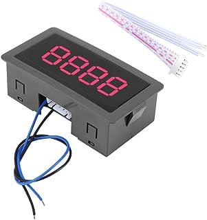 電子カウンター ディジットカウンター、DC 8-24V 4ディジットLEDデジタルディスプレイ0-9999アップ/ダウンプラス/マイナスパネルカウンターメーター付きケーブル(レッド)