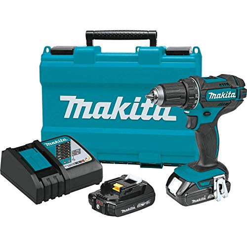 Makita XFD10R 18V Compact Lithium-Ion Cordless 1/2' Driver-Drill Kit (Renewed)