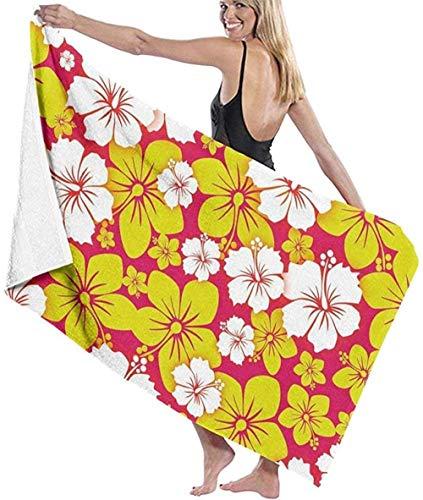 WJSQJ Toallas De Baño Delightful Flowers Toalla De Playa Multiusos Toalla De Playa Absorbente Súper Suave Adecuado para Niños Y Adultos Viajes Yoga Natación Y Camping 80X130Cm
