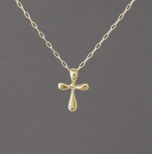 gold cross necklace Simple gold necklace small cross necklace gold fill necklace Gold cross Necklace