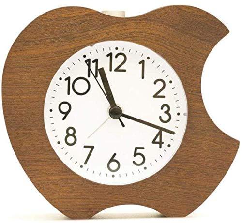 Creative Bedside Klok Vintage houten Leuke wekker appel creatieve houten Leuke wekker nachtkastje kantoor bel decoratie
