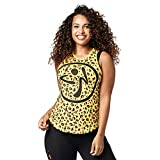 Zumba Workout High Neck Tank Activewear Graphic tee Dance Fitness Top for Women Camiseta sin Mangas de Cuello Alto, Mell-oh Amarillo, L para Mujer