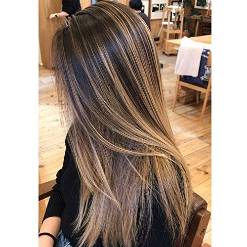 Hetto Remy Veri Micro Ring Capelli Umani 18 Pollici 100 Veri Capelli Umani Estensioni Piano Color #4 Dark Brown Highlight Golden Blonde #16 50G Microring Extension Veri