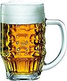 Bormioli Rocco Malles Lot de 6 chopes à bière 475 ML avec Trait de Remplissage 400 ML