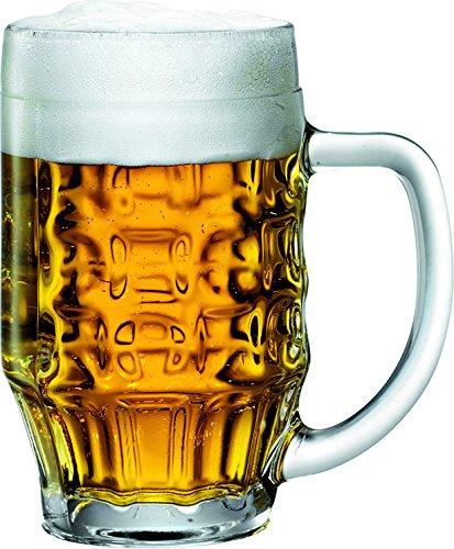 Bormioli Rocco Malles Bicchiere di birra 475ml, con segno di riempimento a 400ml, 6 Bicchiere