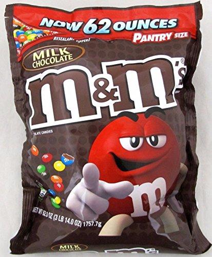 『海外直送品 M&M'S Milk Chocolate Candy pantry Size Bag, 62 oz』のトップ画像