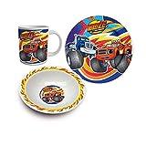 Blaze And The Monster Machine Set desayuno 3 piezas ceramica (Suncity BLA102356)