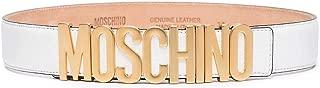 Luxury Fashion | Moschino Womens A800980030001 White Belt | Season Permanent