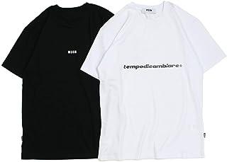 エムエスジーエム SHORT SLEEVE T-SHIRT WITH PRINT Tシャツ 半袖 ブラック ホワイト 2540MM60 184798 レディーズ (並行輸入品)